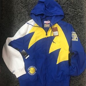 Mitchell & Ness GS Warriors NBA Shark Tooth Jacket